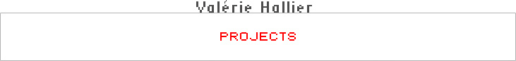 Valérie Hallier - Projects